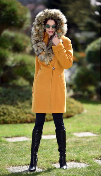 Kabát žlty Radka - 5256 Color 148