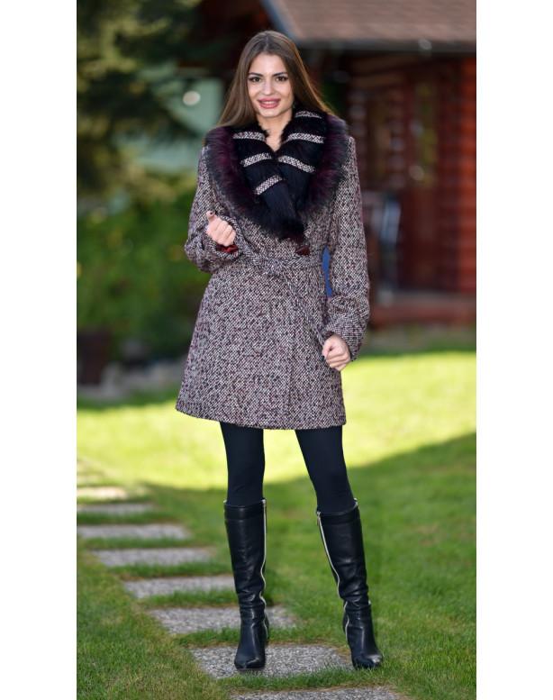 Kabát bordový Ivona - 5257.1 color 307