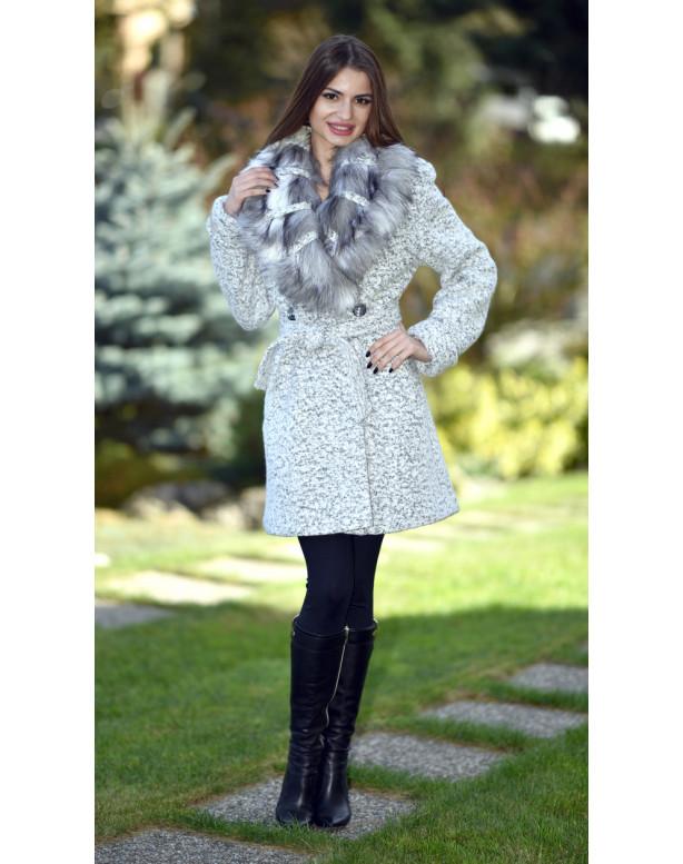 Kabát sivý Ivona - 5257.1 color 352