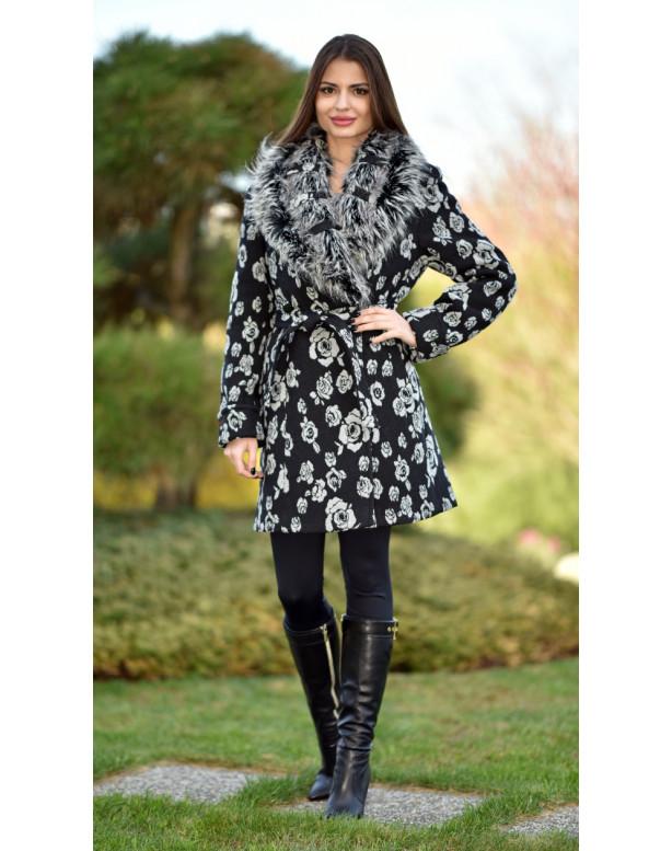 Kabát čierny Ivona - 5257.1 color 360