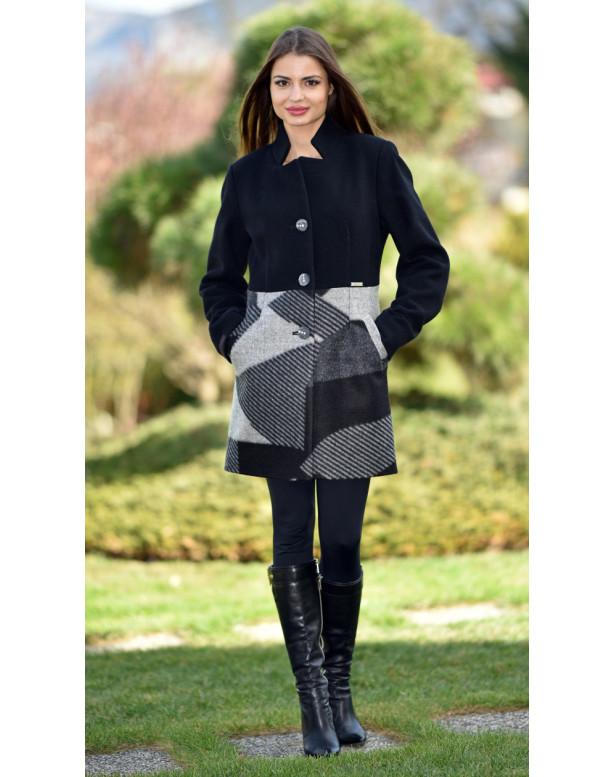 Kabát čierny Sigma2 - 5271.1 Color 77/312