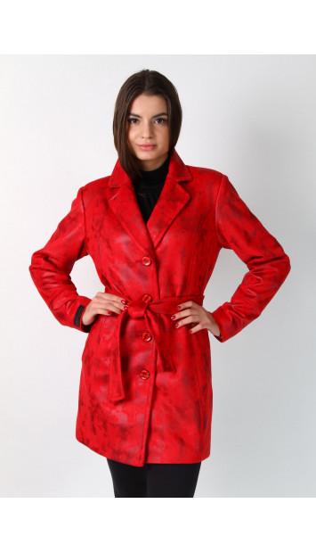 Kabát červený Evans - 5219 color 259