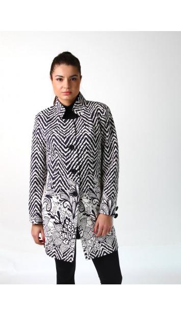 Plášť čierno biely Assh 5220 color 184