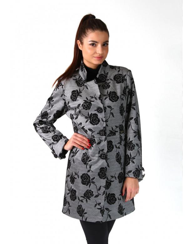 Plášť čierno biely Assh 5220 color 185