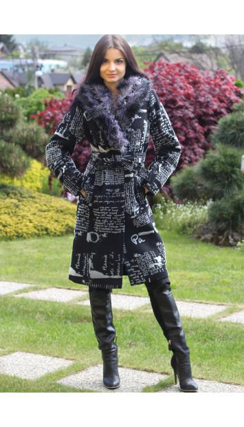 Kabát čierny Anita - 5118.1-a COLOR 236