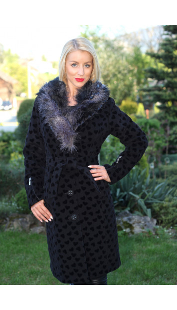 Kabát čierny Anita - 5118.1-b COLOR 241