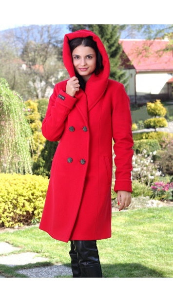 Kabát  červený Lam - 5127