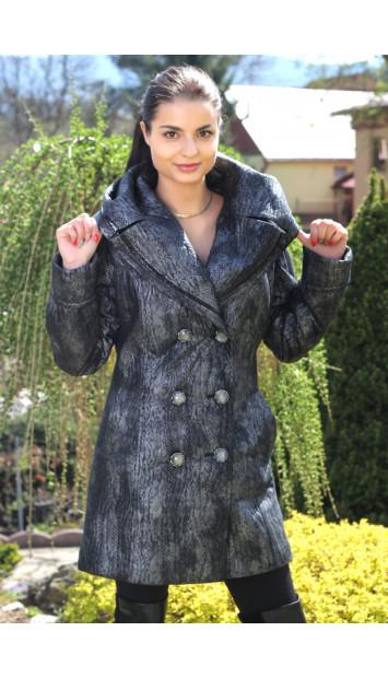 Kabát  čierny Row - 5132.3 P