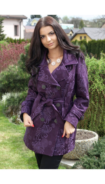 Kabát fialový Natalia-dussi - 5134