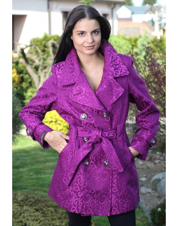 Kabát cyklamenový Natalia-dussi - 5134.1