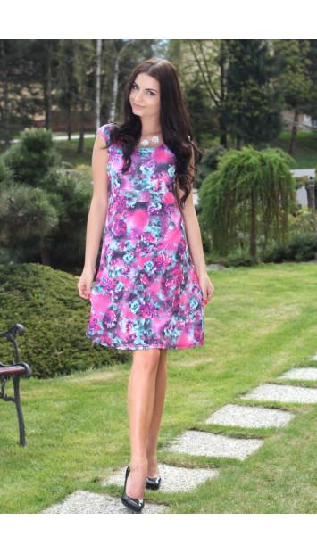 Šaty rúžové Natalia - 5137