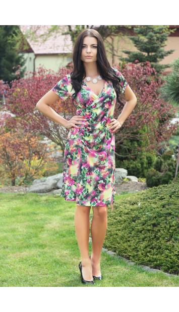 Šaty rúžové Soňa - 5140