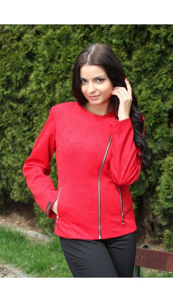 Sako červené Lina - 5143