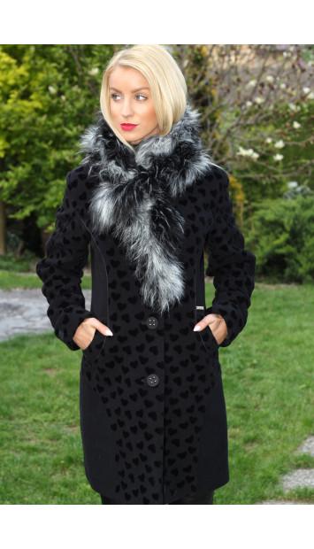 Kabát čierny Taylor - 5163.1 COLOR 241/77