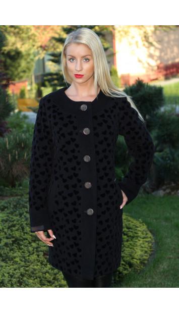 Kabát čierny Jozefína - 5165.1 COLOR 241/77