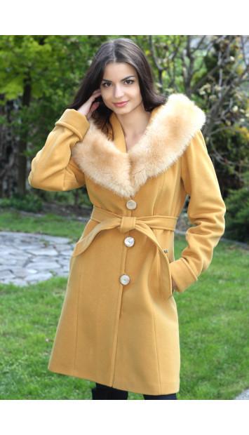 Kabát žltý Štefánia - 5167-b COLOR 148