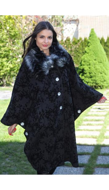 Kabát čierny Ľubomíra - 5169.1 COLOR 157