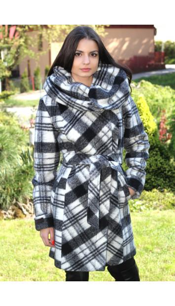 Kabát čierno biely Zuzana - 5170.1 COLOR 233