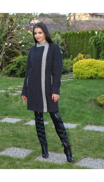 Kabát čierno biely Darina 5171.1b COLOR 234/78