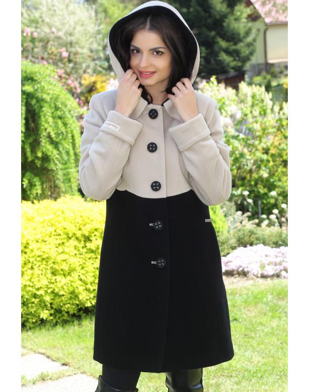kabát biely Kristy- 5174-A