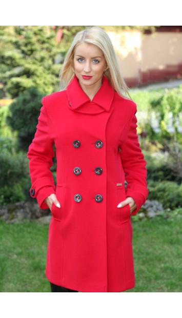 Kabát červený  Anabela - 5184-c COLOR 106