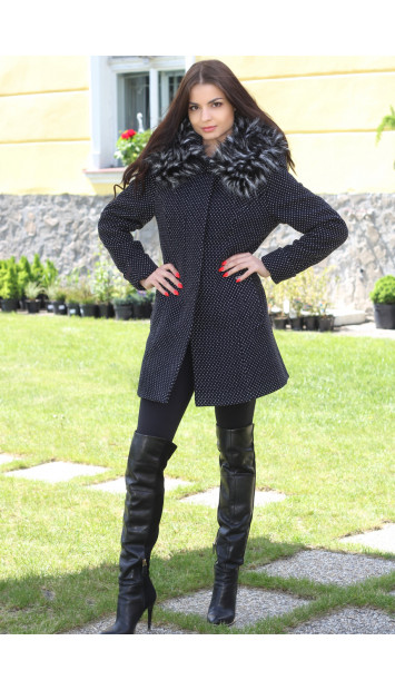 Kabát čierny Jana - 5186.1 COLOR 234