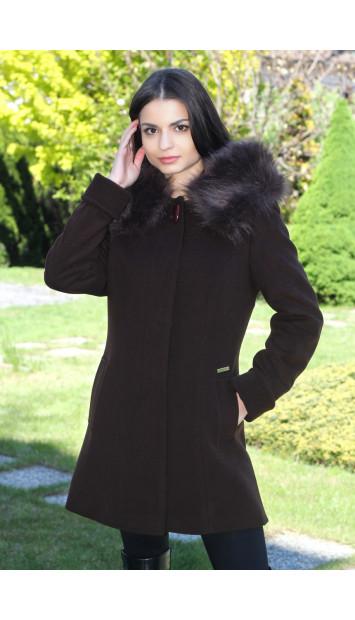 Kabát čierny Jana - 5186-a COLOR 252