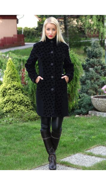 Kabát čierny Silivia - 5192.1 COLOR 241/77