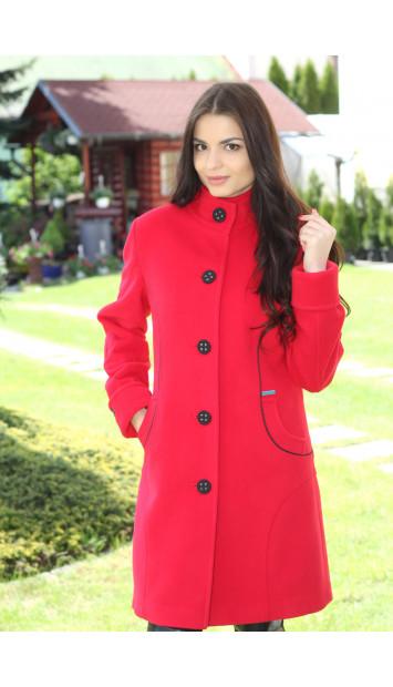 Kabát červený Silvia - 5192 COLOR 106