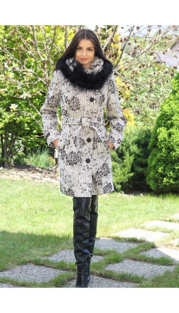 Kabát bežový Nikola - 5193.1 COLOR 187