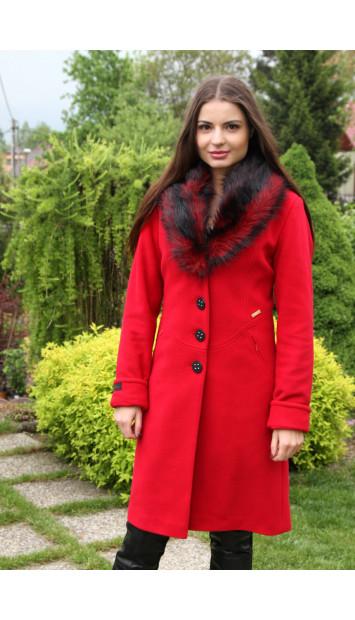 Kabát  červený Jela - 5166