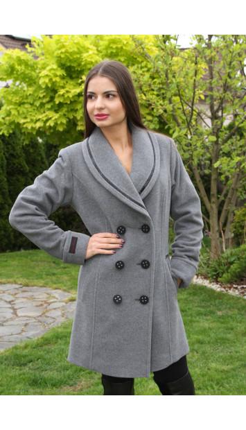 Kabát sivý Rowa - 5195