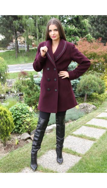 Kabát bordový Rowa - 5195