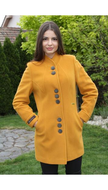 Kabát žltý Svetlana - 5207 COLOR 148