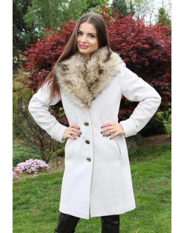 Kabát bežový Broňa - 5211 COLOR 246