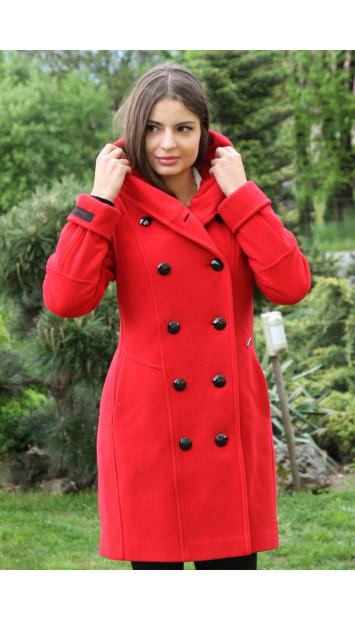 Kabát červený Sidónia - 5213 COLOR 106