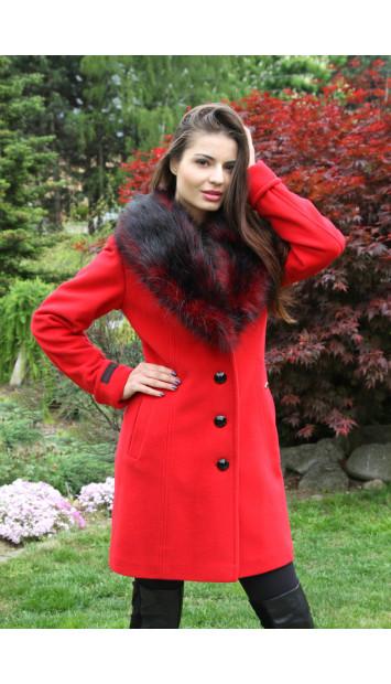 Kabát červený Iviva - 5217 COLOR 106