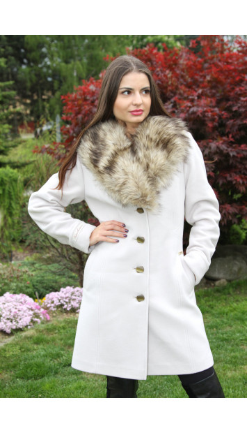 Kabát bežový Iviva - 5217 COLOR 246