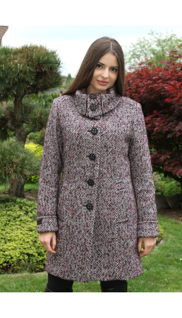 Kabát Bordový Kornélia - 5218.1 COLOR 291