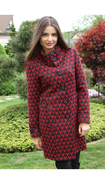 Kabát červený Kornélia - 5218.1 COLOR 294