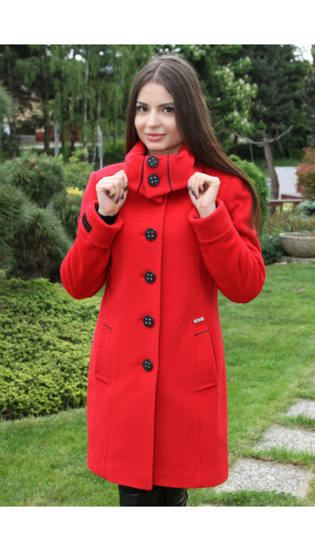 Kabát červený Kornélia - 5218 COLOR 106