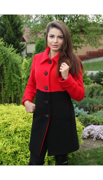 Kabát červený Thomas - 5226 COLOR 106/77