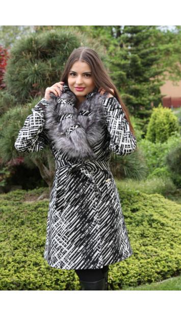 Kabát čierny Ivana - 9251.1