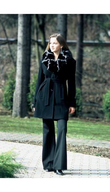 Kabát čierny Jennifer - 39334