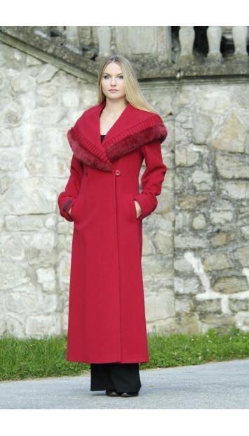 Kabát červený Hentrieta - 9256