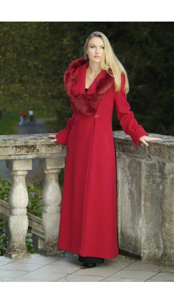 Kabát červený Elvíra - 9248