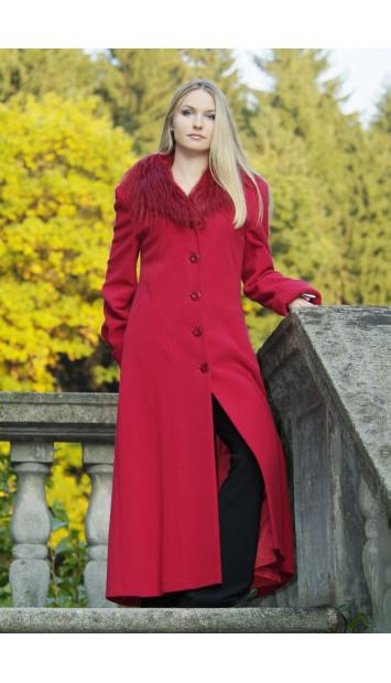 Kabát červený Renáta - 9218