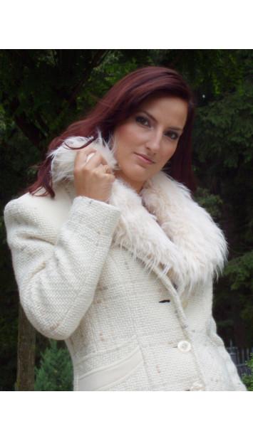 Kabát bežový Alena - 39593