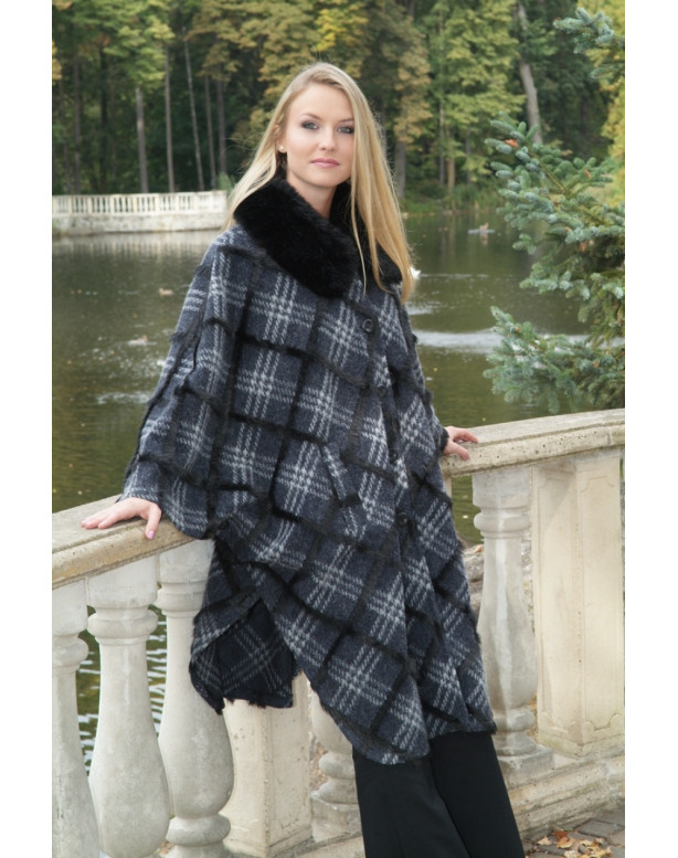 Kabát čierny Barbara - 39523