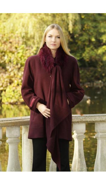 Kabát bordový Vanda - 39355